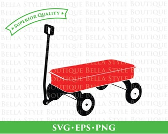 RED WAGON svg png eps cut file