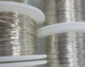 Sterling Silver Wire, 26 Gauge, Half Hard or Soft, Round, 10 Feet