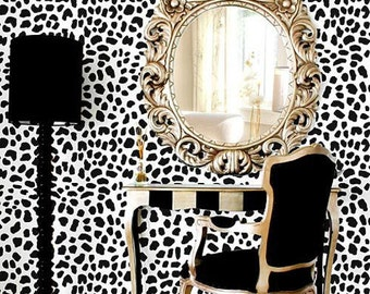 Leopard Skin Pattern Stencil - Large - reusable stencil patterns for walls just like wallpaper - DIY decor