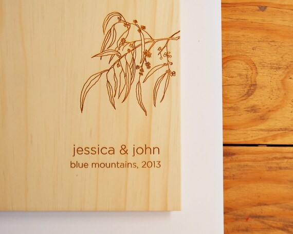 Wedding Gift Ideas Australia: Wedding Guest Book. Australian Wood. Wedding Gift. Engagement