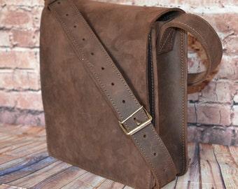 Tablet PC bag, Leather Handmade messenger bag