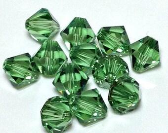 8mm Erinite Swarovski bicones, erenite bicone crystal beads, Swarovski Crystal Article 5301, 8 mm Bicones - ERINITE (set of 6)