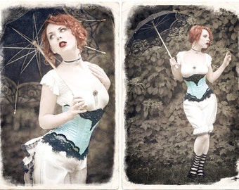 Underbust PATTERN victorian corset edwardian underwear lingerie waist cincher