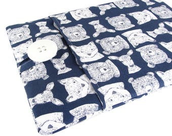 Kindle Fire 7 Case - Kindle Fire HD 8 Case - Kindle Fire HD 10 Case - Cute Animal Head Fabric