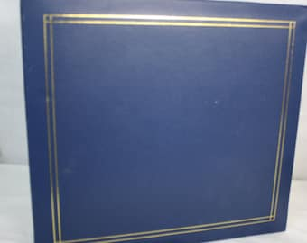 Blue 12x12 with Gold Border Scrapbook