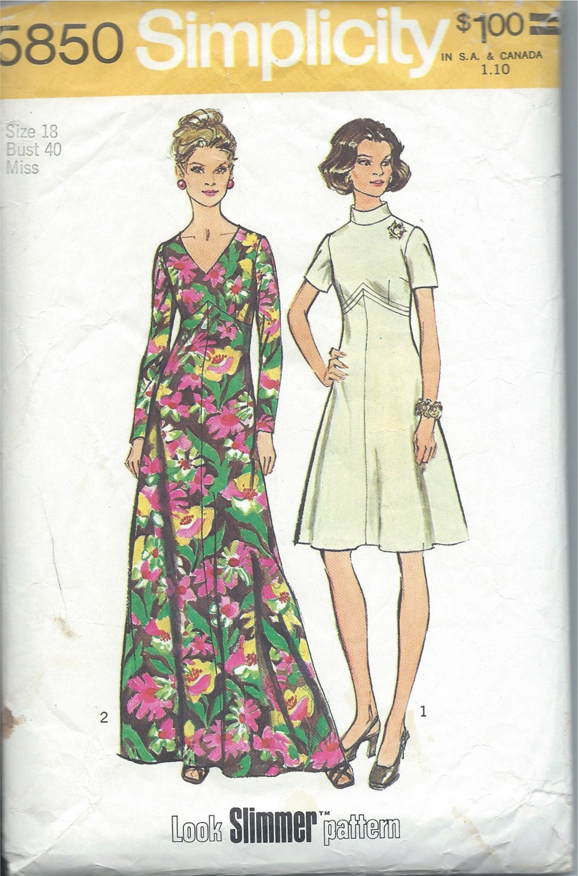 Simplicity sewing pattern no 5850 hostess maxi dress with long sold by cornehl jeuxipadfo Images