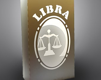 Libra Zodiac box card with envelope template