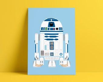 R2-D2 - Signed Poster Print A5, A4 & A3