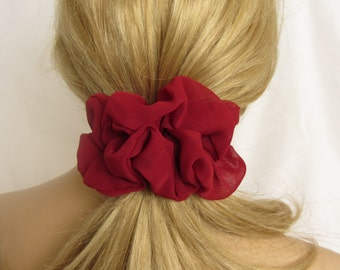 Burgundy Hair Scrunchie - #62