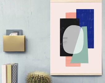 Geometric Poster - Art printable - Abstract Art - Colour Block - Geometric Art - Scandinavian Art - Nordic Art - Contemporary Art