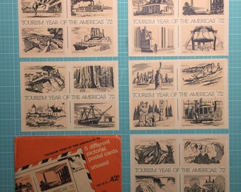 Postcards - Tourism Year of the Americas 1972