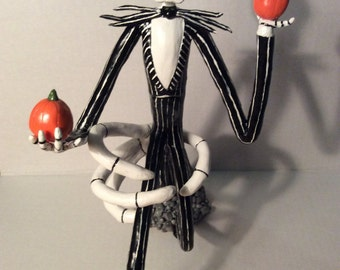 Jack Skellington Nightmare Before Christmas OOAK Tim Burton movie sculpture