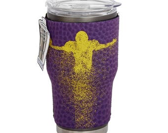 LSU Purple/Yellow 2-Sided Yeti Sleeve- 30oz Tumbler- Game Day Team Colors  -Customize Your Cup!