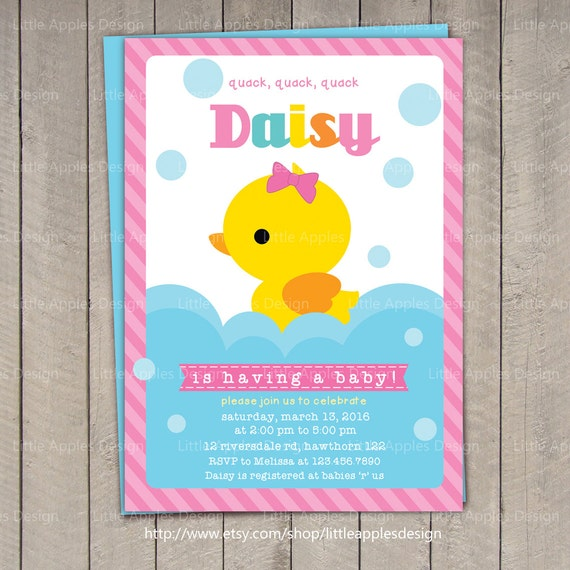 Duck baby shower invitation rubber duck baby shower duck baby shower invitation rubber duck baby shower invitation rubber duck invitation duck invitation filmwisefo Gallery