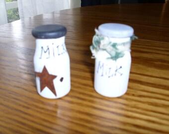 miniature milk bottle