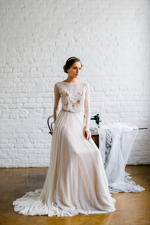 Long sleeve wedding dress \'TERRI\' / Modest wedding