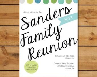 Family Reunion Invitations - Cool Summer Lanterns