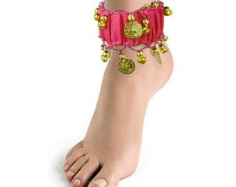 Belly Dance Elastic Coins Anklet