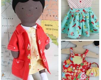 Ginger cloth doll, rag doll pattern, rag doll, doll clothes, cloth doll pattern, rag doll pdf, doll pattern, instant download, doll patterns