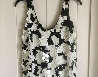 Silk sequin tunic