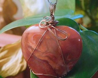 Crystal Pendant, Carnelian Heart Pendant, Carnelian, Carnelian Heart, Stone for Sacral Chakra, Crystal Pendulum, Carnelian Crystal  ~924