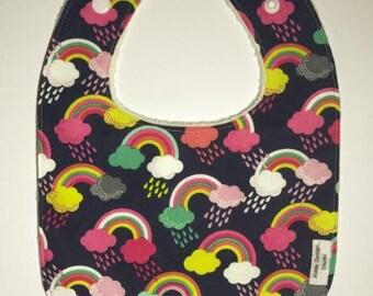 Baby bib - rainbow - baby shower gift idea
