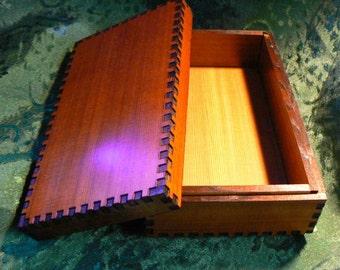 6.5 x 3.8 x 2 Big Red Cedar Tarot Box
