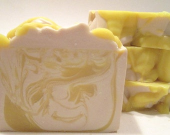 Coconut Banana Smoothie Soap Handmade Cold Process Soap