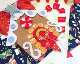 Christmas bunting, christmas decoration, christmas decor, christmas banner