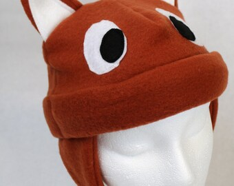 Adult Fox Fleece Hat