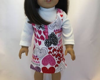 18 inch doll clothes; jumper and top