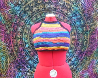 Crochet Rainbow Festival/Sun Crop Top