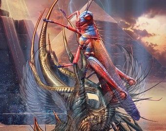 3x Insect #5 Custom Altered Tokens MTG (for the Locust God) Hour of Devastation