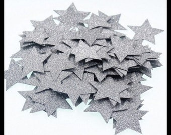 Silver Stars Table Confetti Pack of 100 Pieces