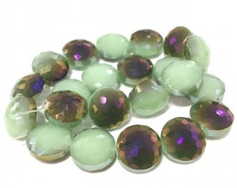 X 1 PCE glass 15 mm lentil beads