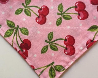 Retro Cherries in Pink