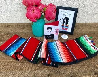 Viva La Mujer - Graduation Sarape Stole Gift Set - RED