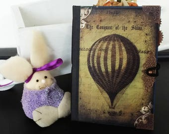 Steampunk Voyage Handcrafted Hardcover Junk Journal