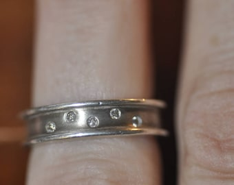 Scattered Diamond Sterling Band