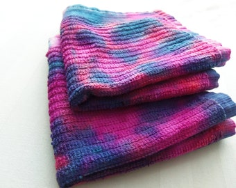 Pink and Purple Swirl Washcloth Set of Two