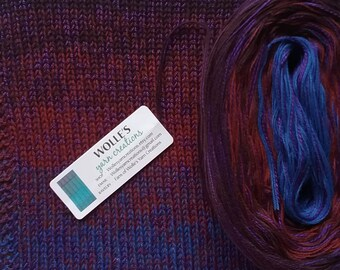 BURGUNDY SILK Medley - Color Changing Cotton/Silk yarn - 480 yards/100 gr - Fingering Weight