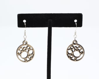 Circles and Bubbles Dangle Earrings