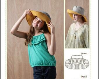 Pixie Faire Bonjour Teaspoon Phoebe Hat Sewing Pattern for Girls - PDF