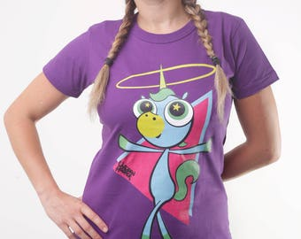 Horn Hooping Unicorn Purple top