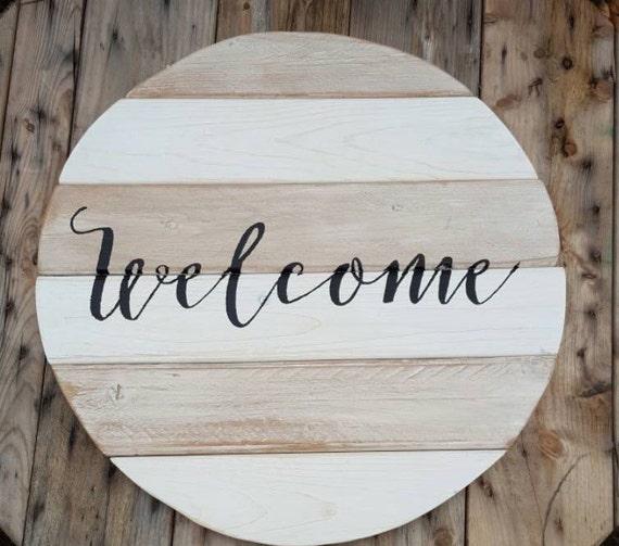 Plaque de bienvenue pour la porte dentrée bienvenue panneau de bois décoration bois signe signe de bienvenue pour la maison