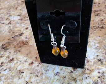 Dangle earrings - yellow Christmas light