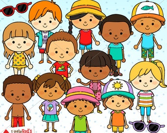 Summer Kids Clip Art - personal and commercial use