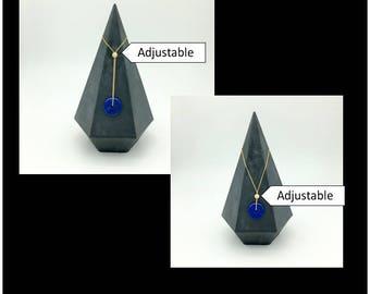Gemstone Lapis Lazul Eternity necklace