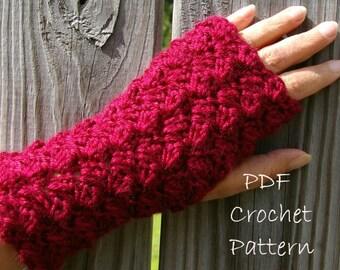 Crochet Pattern Fingerless Gloves Puff Pattern PDF