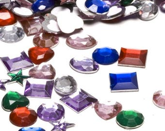 Adhesive Back Craft Jewels (500 Assorted Pieces)  Craft & Tools Supplies